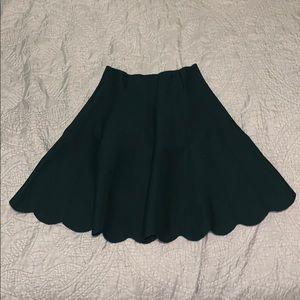 Dark Green Mini Skirt